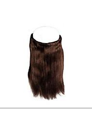 """1pc / lot 8'-30 """"brasilianisches reines Menschenhaar Heiligenschein Haarverlängerung 100g / pc glattes Haar # 1b, # 2, # 4, # 6, # 33, #"""