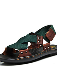 Men's Shoes Casual Suede Sandals Dark Green/Light Green/Black/Brown