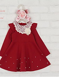 2015 Retailed new spring auturmn Baby Girls dresses girls clothing kids clothes casual 1pc clothing set wholesale