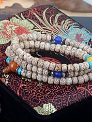 Nepal Moon and Stars Bodhi Month High Density Dry Grinding Beads Rosary Bracelet 108 Bracelets