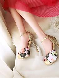 Women's Shoes  Stiletto Heel Heels/Peep Toe/Open Toe Sandals Dress Blue/White/Silver/Gold