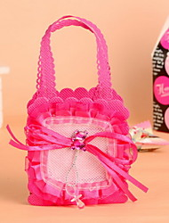 Pink and Rose Red Cute Bear& Pacifier Baby Candy Favor Bags  Set of 12