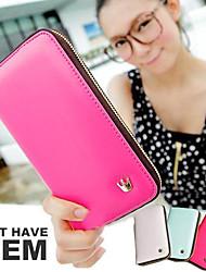 New Fashion Long Women Mobile Phone Wallet Card Bag Zipper Bag Handbags