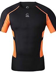 T-shirt -( Noir ) de Cyclisme - Respirable/Séchage rapide/mèche/Compression  à Manches courtes Homme Haute élasticité S/M/L/XL
