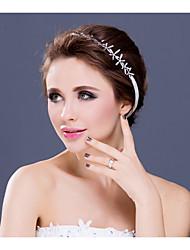 Women's / Flower Girl's Rhinestone / Alloy Headpiece-Wedding / Special Occasion / Casual Tiaras / Headbands 1 Piece Clear