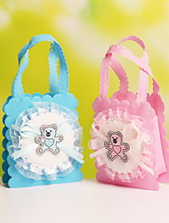 Nonwoven Fabric Double Handle Wedding Candy Bags Party Favor Gift Bags  with Bear Pattern Set of 12