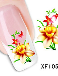 5Pcs Beautiful Butterfly and Flowers Pattern Nail Stickers