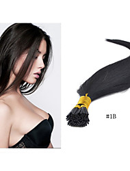 """1pc / lot 18 """"-30"""" extension de cheveux # 1b i-pointe des cheveux humains brésilienne vierge pointe de bâton kératine pro-collé 1g de"""