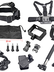 Accessories For GoProFront Mounting / Smooth Frame / Monopod / Tripod / Gopro Case/Bags / Screw / Suction Cup / Straps / Hand