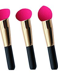 New Style Non-latex Sponge Powder Puff & Cosmetic Brush One Set of Three Different Models  30mm