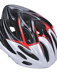 Unisex Fashion and High-Breathability PC + EPP Bicycle Helmet With Detachable Sunvisor(22 Vents) - Black + Red + White