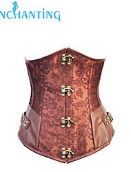 Senchanting Women's Steel Steampunk Corset Top Underbust Basque Costume Clubwear