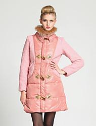 Abrigo Largo De las mujeres - Vintage - Tweed - Manga Larga