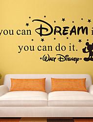 наклейки стены стиль наклейки, если вы можете мечтать это английские слова&цитирует наклейки ПВХ стены