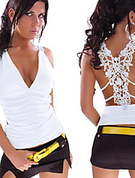 Women's Vests , Elastic/Lace Beach/Casual Sleeveless JingJing
