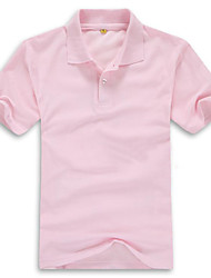 New Fashion Men Polo Shirt, Solid Pink Color, Short Sleeve,Turn-down Collar, Polo 010