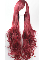 Cos Anime Bright Colored Wigs Long  Dull Red Silver Hair Wig 80 cm
