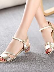 Women's Shoes Heel Peep Toe Sandals / Heels Outdoor / Dress / Casual Silver / Gold/117-1