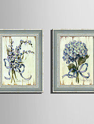 E-HOME® Framed Canvas Art, A Bunch of Flowers Framed Canvas Print Set of 2