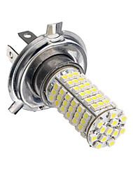 h4 5W 480lm 102led 6500-7500k bulbo carro sinal de auto lâmpada de viragem nevoeiro luz 12v branco