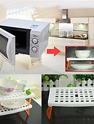 Microwave Oven Shelf Folding Storage Rack Tray Kitchen Cooking Gadgets