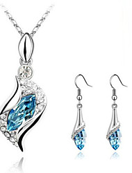 Z&X® Alloy Austrian Crystal Angel Eye Jewelry Set Party/Daily 1set(Including Necklaces/Earrings)