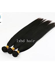 migliore bellezza di tre fasci di colore naturale serico prezzo all'ingrosso della fabbrica diritto 100% remy peruviano dei capelli umani