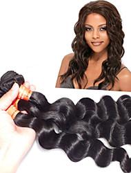 Pc 1 lot 8-24 pollici vergine brasiliana dei capelli # 1b dei capelli umani prodotti per i capelli del tessuto dell'onda sciolto