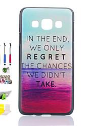 red Wolkenmuster schwarz matt pc phone case und Staubstecker Stift Stifthalter Kombination für Samsung-Galaxie a3
