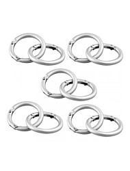 10pcs Silver Round Carabiner Camp Spring Snap Clip Hook Keychain Keyring Climbing