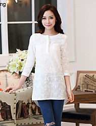 Yu Ling Women's Three Quarter Sleeve Casual Loose Blouse