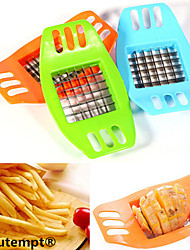 1PCS Stainless Steel Blade Potato Chips Vertical Cutter Chopper Slicer(Random Color)