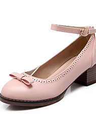 Women's Shoes Chunky Heel Comfort/Round Toe Loafers Outdoor/Dress/Casual Blue/Pink/White