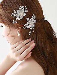 Bling Rhinestones Wedding/Party Bridal Headpiecs with Tiny Imitation Pearls