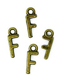 beadia 100шт алфавит Буква F 6x16mm античный бронзовый сплав очаровывает подвески DIY аксессуары