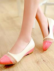 Women's Shoes  Wedge Heel Wedges Pumps/Heels Outdoor/Casual Brown/Yellow/Red