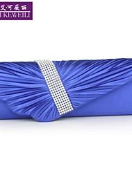AIKEWEILI®Women's Purse Fashion Silk Drape Bride Bag Korean Style Evening Bag Shoulder Bag Hot Wedding Party Bag