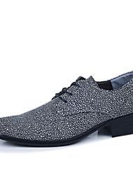 Oxfords ( Cuero , Negro/Azul/Gris/Rojo Zapatos de hombre