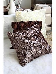 100% de couverture en polyester satinée broderie coussin pour Vente en gros&vente au détail
