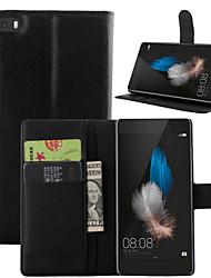 lichia em todo suporte aberto telefone couro cartão da carteira adequadas para Lite Huawei p8 (cores sortidas)