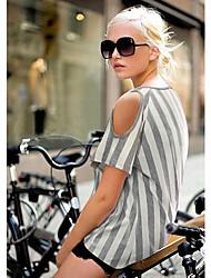 Han&Chloe®Women's Slim Vertical Striped Strapless T-Shirt