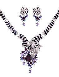 Ever.Popuplar Tiger Necklace Earring Set for Women Party(More Color)