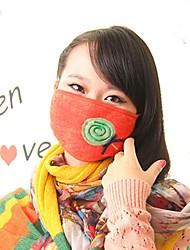 사랑스러운 롤리팝 패턴 양털 먼지 방지 겨울 열 성인 마스크 얼굴 마스크 의료 거즈 마스크 (랜덤 색상)