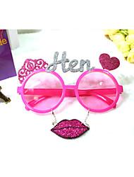 pc grappig liefde roze lip stijl geek&chique party bril