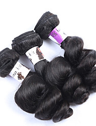 "3Pcs/Lot+10""-30""+Brazilian (Italian) Virgin Hair+ color(natural black)+Loose wave"