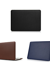"Case for Macbook Air 13.3"" Solid Color PU Leather Material High Quality Luxury PU Leather Full MacBook Case"