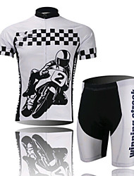 Motorcycle Riding Short Sleeved Suit, Moisture Cycling Wear, Motor Function Material