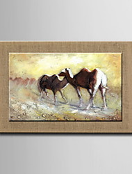Oil Paintings One Panel Modern Abstract Animal Hand-painted Natural Linen Ready to Hang