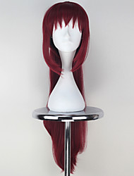 Cosplay Wigs Seraph of the End Cosplay Red Long Anime Cosplay Wigs 80 CM Heat Resistant Fiber Female