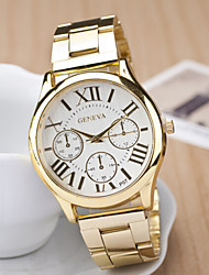 Couple's Round Dial Case Leather Watch Brand Fashion Quartz Watch Cool Watches Unique Watches